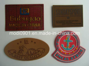 Embossed Tags / Logo Leather Labels / Leather Patches for Jeans Leather Labels pictures & photos