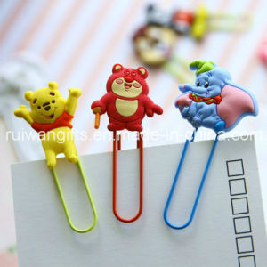 Lovely Cartoon Soft PVC Rubber Paper Clip Stationery pictures & photos