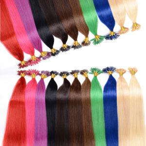 Keratin Hair Extension Straight, U Tip Pre-Bonded Hair Nail Tip Hair pictures & photos