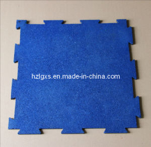 Interlocking Rubber Flooring Tiles for Gym pictures & photos