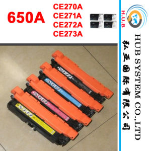 Printer Toner, Color Laser Cartridge for HP CE270A (650A) CE271A/CE272A/CE273A pictures & photos