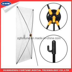 Aluminum Pole Korea X Banner Stand a (black-yellow color) pictures & photos