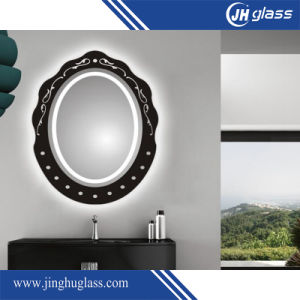 Bathroom Silk Screen LED Lighted Mirror with Aluminium Frame pictures & photos