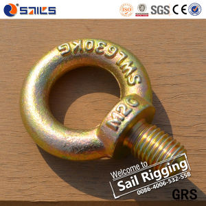 JIS1168 Yellow Zinc Forged Steel Eye Bolt Fastener pictures & photos