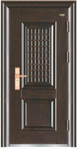 Turkish Simple Aluminium Steel Securty Door pictures & photos
