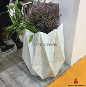 White Marble with Vein Flower Pot for Garden, Home Decoration pictures & photos