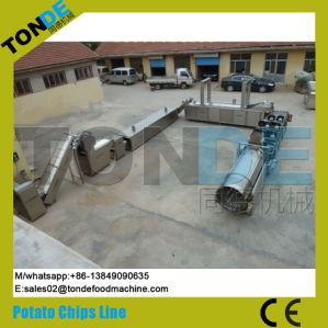 Semi Automatic Electric Fresh Cassava Potato Chips Processing Line pictures & photos