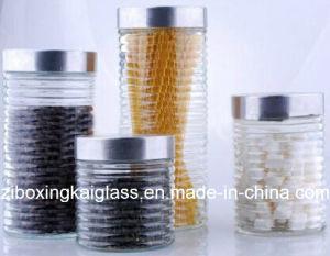 Transparent Airtight Glass Jar with Metal Lid