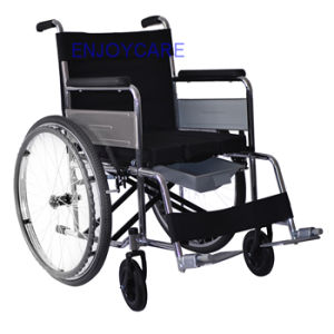 Enjoycare Manual Wheelchairs Commode Chair Es11 pictures & photos