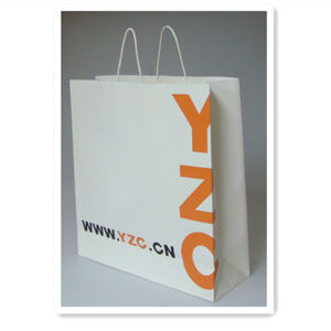 High Quality White Kraft Paper Shopping Bag Wholesale Price pictures & photos