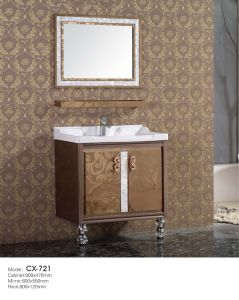 Indian Style Stainless Steel Bathroom Cabinet with Mirror pictures & photos