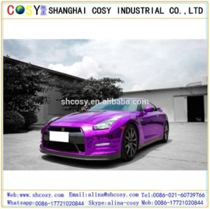 Stretchable Chrome Mirror Glossy Blue Car Wrapping Vinyl Film for Car pictures & photos