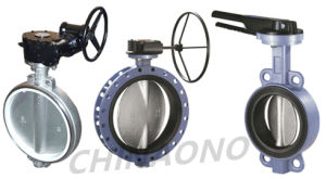 Worm Gear Electric Butterfly Valve with Flange pictures & photos