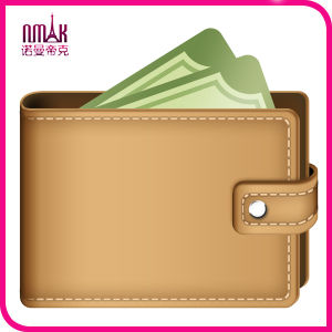 New Stylish Mens Custom Wallet PU Pockets Card Clutch Bifold Leather Purse Light Brown pictures & photos