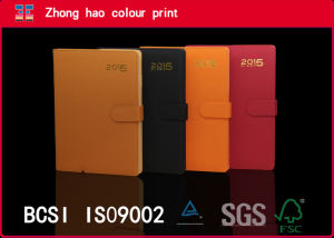 2015 PU Leather Calendar Notebook with Magnetic Switch (15