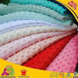 China Best One and Only One Supplier of Minky DOT Fabric