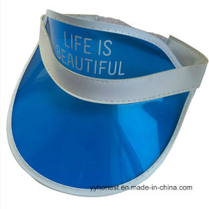 Promotional Custom Printed PVC Transparent Sun Visor Cap pictures & photos