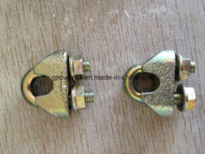 Malleable Steel Cable Clamp DIN1142 Yellow Zinc Galvanized pictures & photos