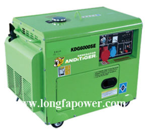Hot Sale 100% Copper 5kw/5kVA Portable Home Use Silent Diesel Generator pictures & photos