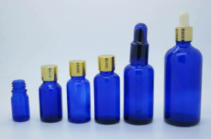 Sell Set of Cobalt Blue Glass Bottle with Different Cap