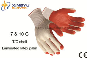 T/C Shell Laminated Latex Palm Safety Work Glove (S1201) pictures & photos