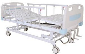 CE Certificate Three Cranks Manual Hospital Bed (SK-MB103) pictures & photos