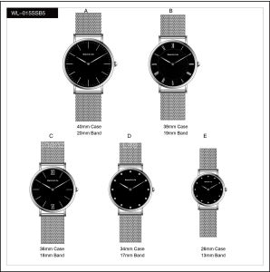 Promotion Sport Stainless Steel Fashion Lady Men′s Watches Quartz Mesh Band Wrist Watch pictures & photos