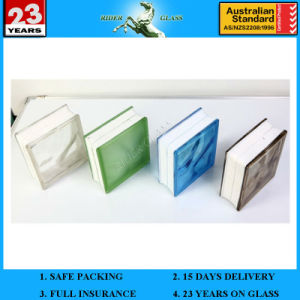 Hot Sell 190*190*80mm Clear or Colored Block Glass Brick for Floor Decorative or Wall Partition pictures & photos