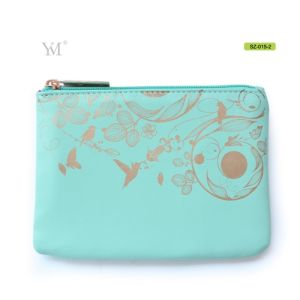 Flat Leather Cosmetic Make up Toiletry Organizer Clutch Bag pictures & photos