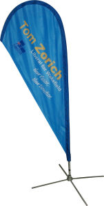 High Quality Polyester Flag Custom Logo Polyester Feather Flag pictures & photos