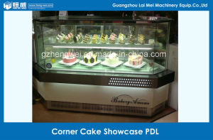Double Layer Glass Corner Pastry Showcase