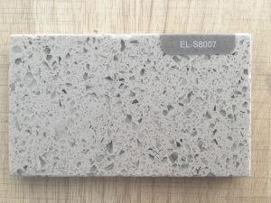 Faux Double Color Quartz Stone / Grey Quartz Stone Slab pictures & photos
