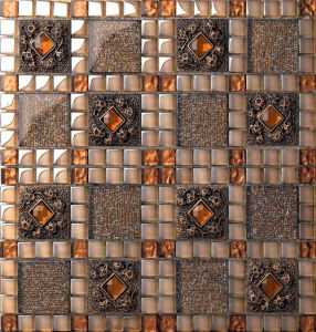Building Material Wall and Floor Glass Mosaic Ma-GS1002 pictures & photos
