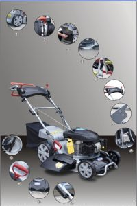 Tw510 Honda Engine 4 in 1 Lawn Mower pictures & photos