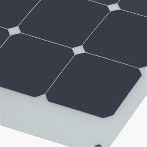 High Efficiency Sunpower Cell Semi Flexible Solar Panel 100W 18V pictures & photos