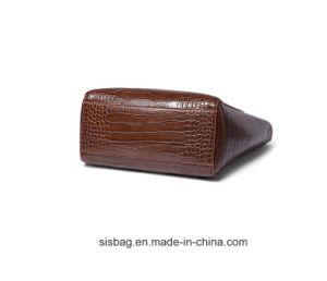 High-Capacity Crocodile Grain Handbag PU Tote Bag pictures & photos