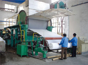 Toilet Paper Machine (1760mm) , Waste Cardboard Paper Recycling Plant pictures & photos