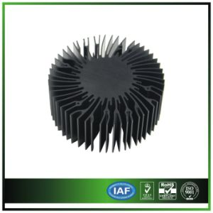 7W Round Aluminum Extrusion Heatsink with Black Anodized Black for LED Light pictures & photos
