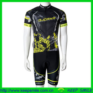 Custom Sublimation Printing Neon Yellow Color Cycling Wear pictures & photos
