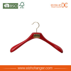 Wooden Clothes Hangers with Buckle on Shoulder pictures & photos