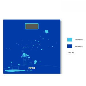 New Slim LCD Display Electronic Weighing Scale with Glass Platform pictures & photos