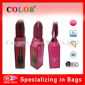 PP Woven Single Bottle Wine Cooler Bag