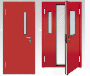 China Double Leaf Factory Fire Rated Steel Doors With Fm