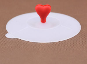 Special Reusable Durable Heart Shape Silicone Cup Lid pictures & photos