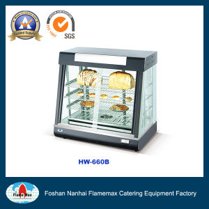 Food Display Warmer Showcase with Light Box (HW-660B) pictures & photos