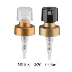 Plastic Cosmetic Crimp Pump with Aluminum Closure (NS107) pictures & photos