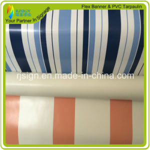 Coated Stripe PVC Tarpaulin pictures & photos