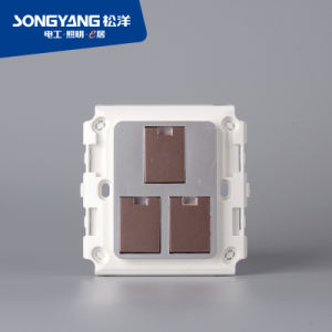 Flame Retardant PC Plastic 3gang Switch Gray pictures & photos