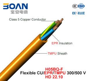 H05bq-F, Rubber Cable, 300/500 V, Flexible Cu/Epr/Tmpu (HD22.10) pictures & photos