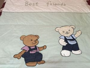 Cotton Yarn-Dyed Cotton Children Patch Embroidery Quilt pictures & photos